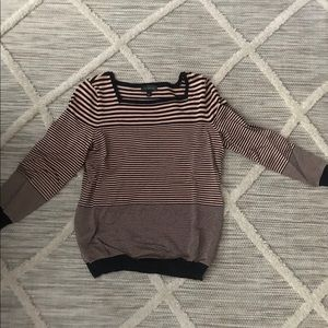 The Limited Boatneck striped top